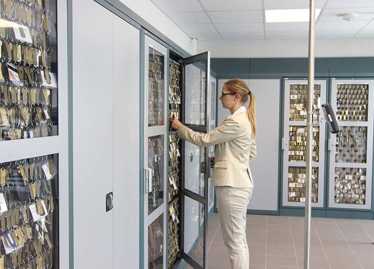 Large deister custom key management installation